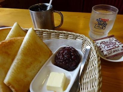 160605コメダ珈琲店岐阜公園店③、アイスコーヒーと小倉トースト (コピー).JPG